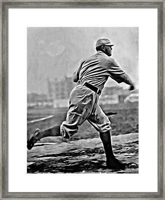 Cy Young Painting Framed Print by Florian Rodarte