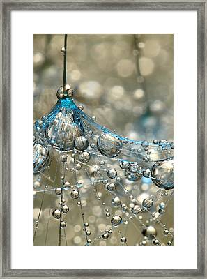 Cyan And Gold Framed Print