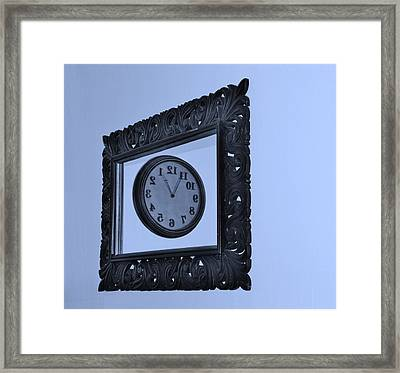 Cyan Time Frame Framed Print by Rob Hans