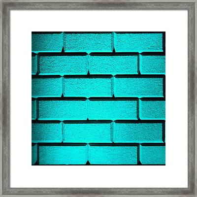Cyan Wall Framed Print