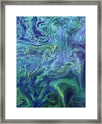 Cyanobacteria Bloom Framed Print by Nasa