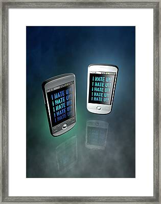 Cyber Bullying Framed Print by Victor Habbick Visions
