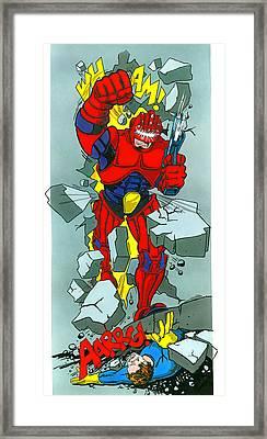 Cyber Fighter Framed Print by MGL Studio