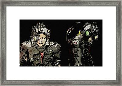 Cyber Figure Framed Print by Tommytechno Sweden