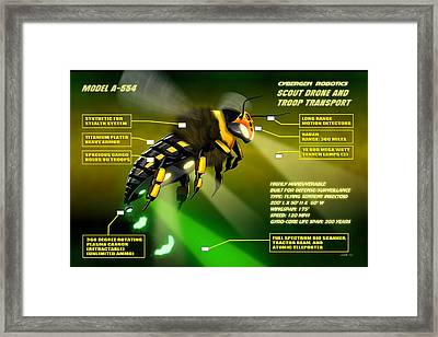 Cybergen Robotics Insectoid Scout Drone Framed Print by John Wills