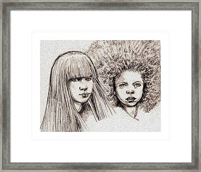 Cyberkids Framed Print by Michael Mynatt
