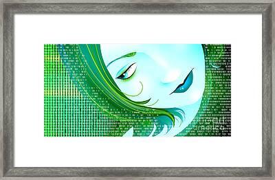 Cyberpunk Framed Print by Sandra Hoefer