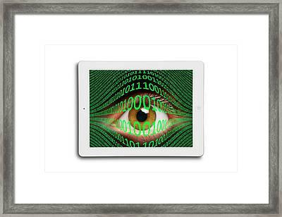 Cyberspying Framed Print by Victor De Schwanberg