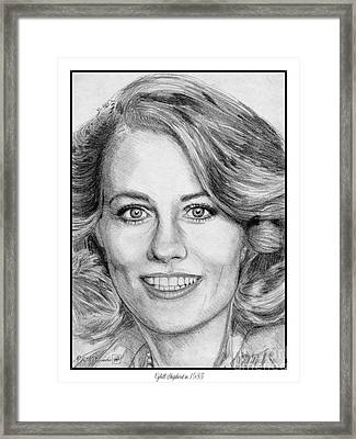 Cybill Shepherd In 1985 Framed Print by J McCombie