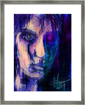 Framed Print featuring the digital art Cyborg 2 by Jim Vance