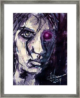Framed Print featuring the painting Cyborg by Jim Vance