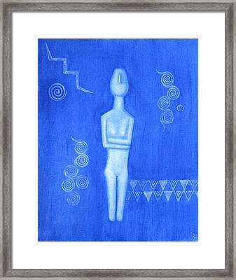 Cycladic Goddess - Left Panel Framed Print