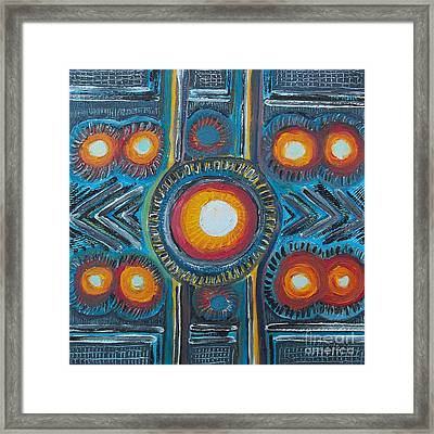 Cycle Framed Print by Agnes Roman