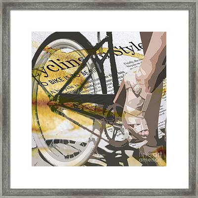 Cycle Chic Framed Print by Sassan Filsoof