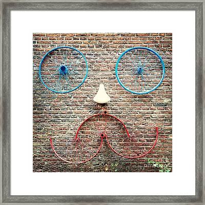Cycle Face Framed Print by Jane Rix