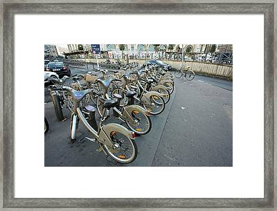 Cycle Hire Scheme Framed Print by Bob Gibbons