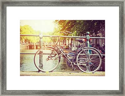 Cycle In Sun Framed Print by Jane Rix