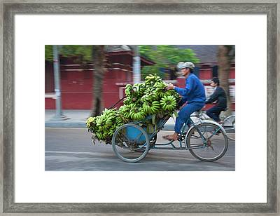 Cycle Loaded With Bananas Framed Print