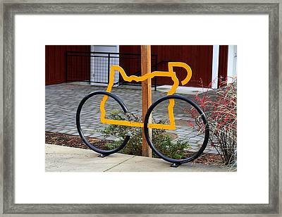 Cycle Oregon Framed Print