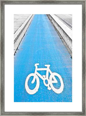 Cycle Path Framed Print