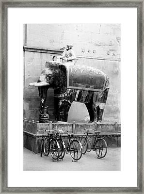 Cycle Stand Framed Print by Jagdish Agarwal