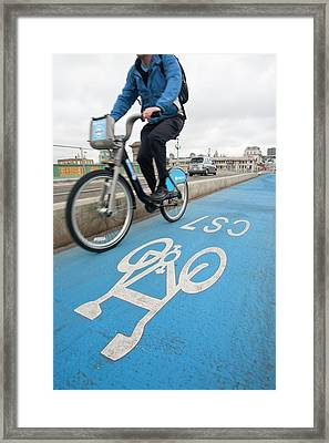 Cycle Superhighways Framed Print