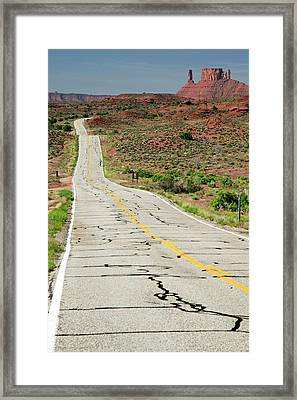 Cycling On Route 128 Framed Print by Jim West