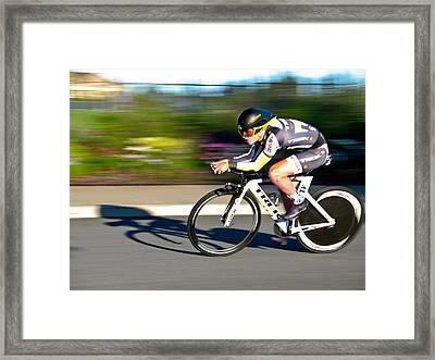 Cycling Prologue Framed Print