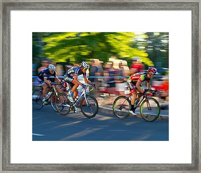 Cycling Pursuit Framed Print