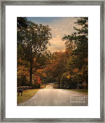 Cycling Season Framed Print by Jai Johnson