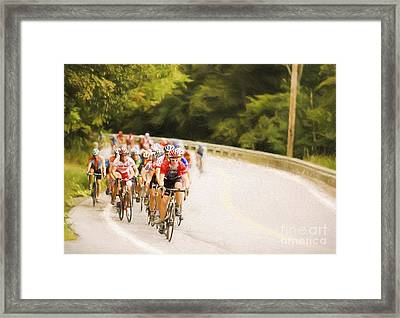 Cycling Stage Race Framed Print by Jan Tyler