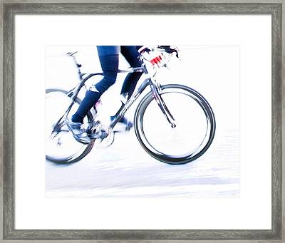 Cycling Framed Print by Theresa Tahara