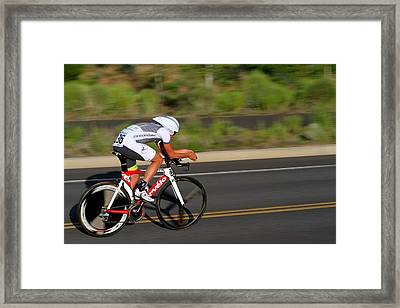 Cycling Time Trial Framed Print