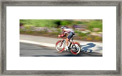 Cyclist Time Trial Framed Print