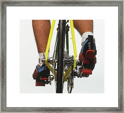 Cyclists Feet On Pedals Framed Print