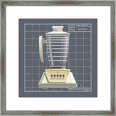 Cyclo-blend - Ivory Framed Print