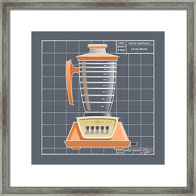 Cyclo-blend - Tangerine Framed Print