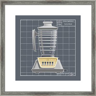 Cyclo-blend -pewter Framed Print