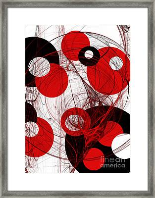 Cyclone Circle Abstract Framed Print by Andee Design