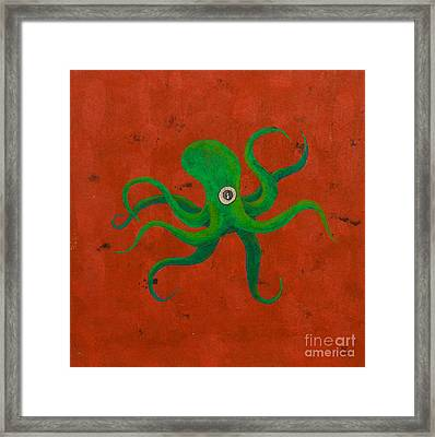 Cycloptopus Red Framed Print
