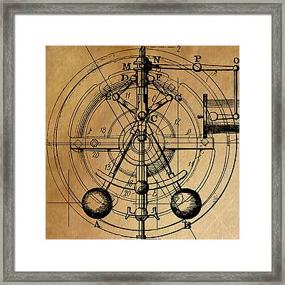 Framed Print featuring the painting Cyclotron by James Christopher Hill