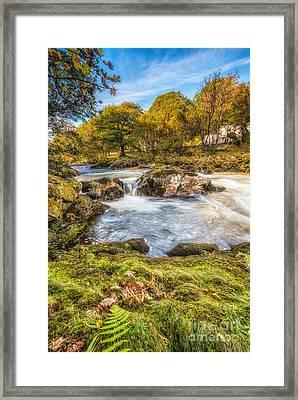 Cyfyng Falls Framed Print by Adrian Evans