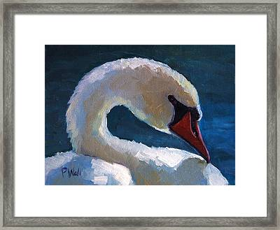 Framed Print featuring the painting Cygnus by Pattie Wall