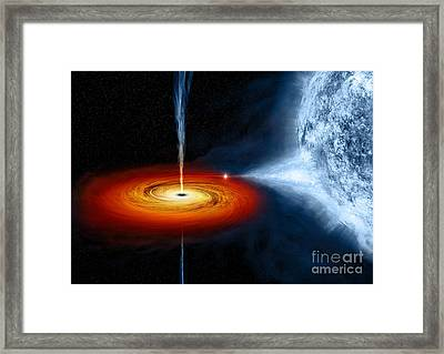 Cygnus X-1 Stellar Black Hole Framed Print by  NASA CXC MWeiss