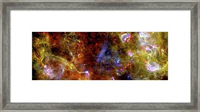 Cygnus X Starbirth Region Framed Print by European Space Agency/esa/pacs/spire/martin Hennemann And Frederique Motte, Lab Aim Paris-saclay, Cea/irfu-cnrs/insu-university Paris Diderot