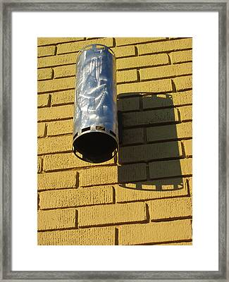 Cylinder Of Silver Framed Print by Guy Ricketts