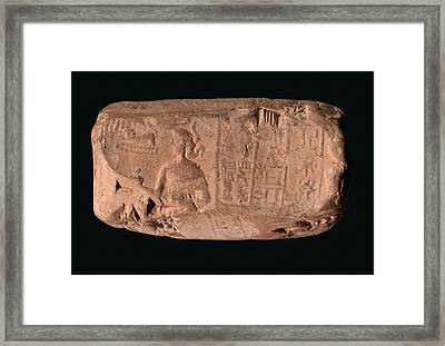Cylinder Seal Goddess Framed Print by Library Of Congress