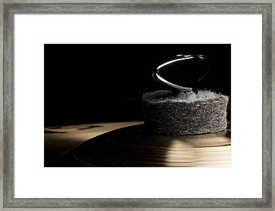 Cymbal Detail Framed Print