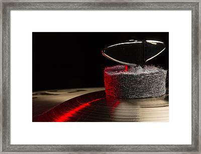 Cymbal Detail Red Framed Print
