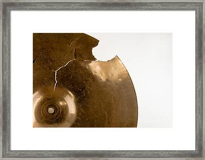 Cymbal On White Framed Print